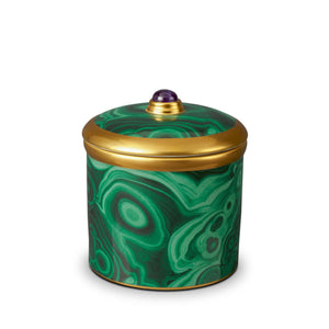 Malachite Candle - Green/Gold