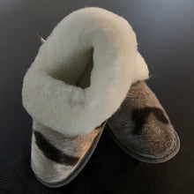 Load image into Gallery viewer, Ladies Sheepskin w/Seal Trim Slippers