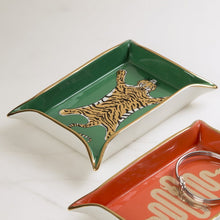 Load image into Gallery viewer, Tiger Valet Tray | Emerald Green