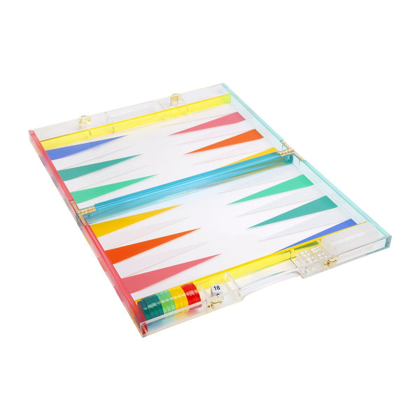 Lucite Backgammon: Rainbow