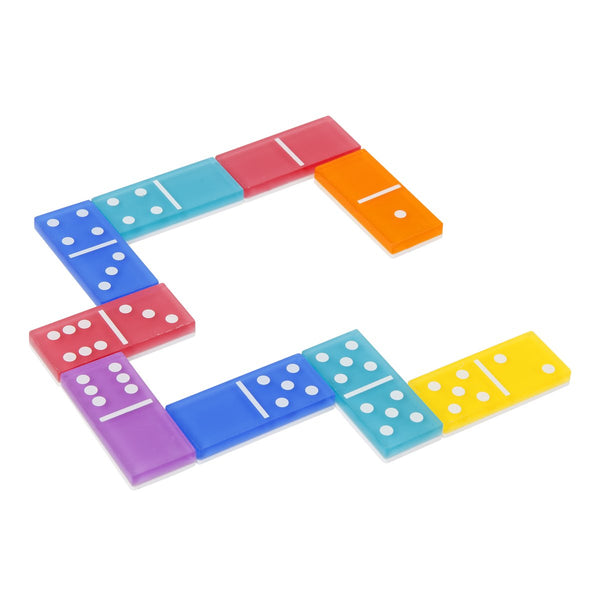 Lucite Travel Dominoes: Rainbow