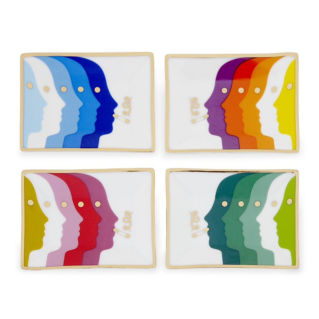 Atlas Petite Trays Set of Four | Multicoloured