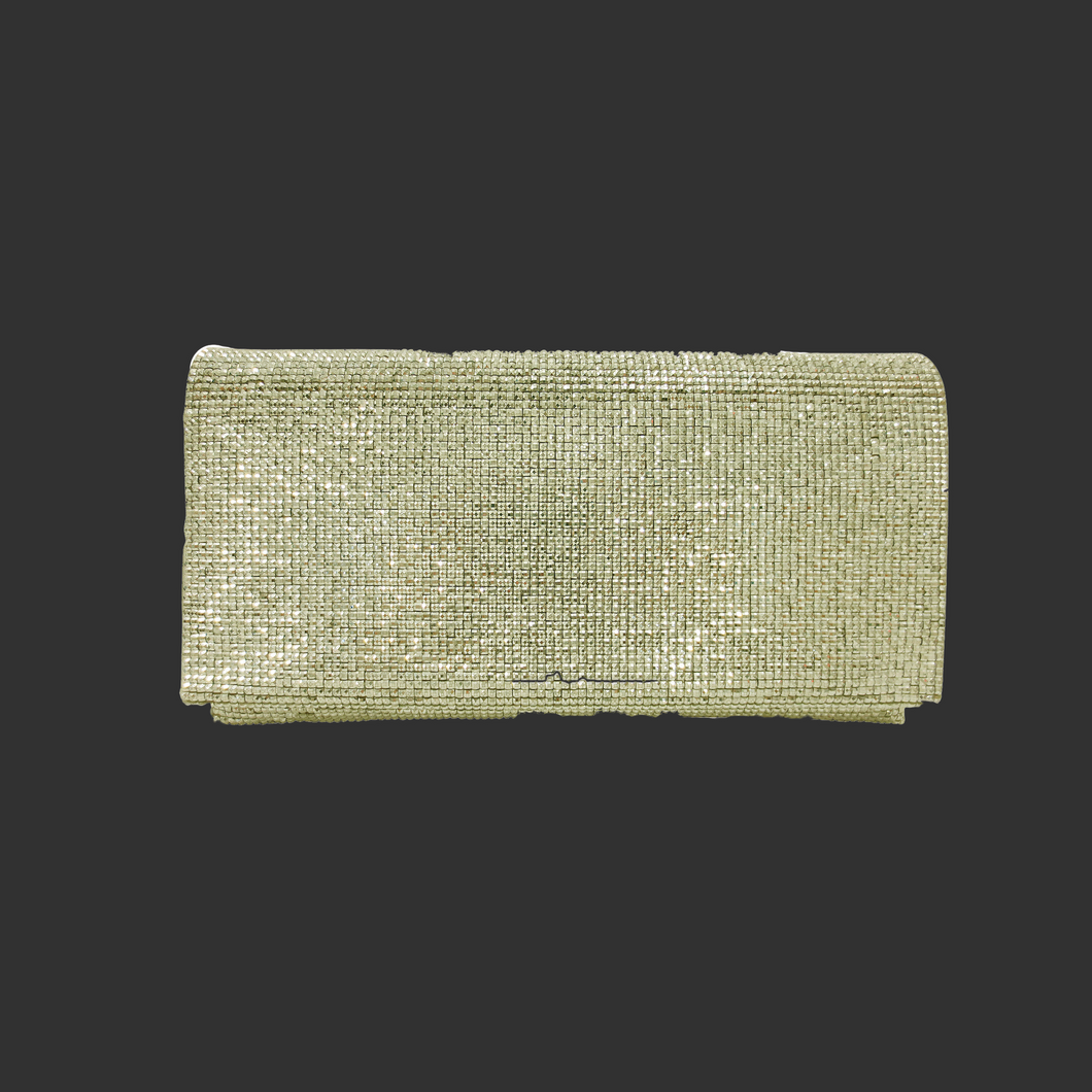 Gold Fold-Over Clutch