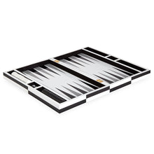 Load image into Gallery viewer, Op Art Backgammon Set - Black/White   Pre-Order