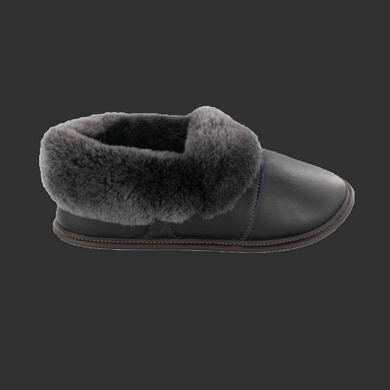 Mens Leather Lazy Bone Slippers