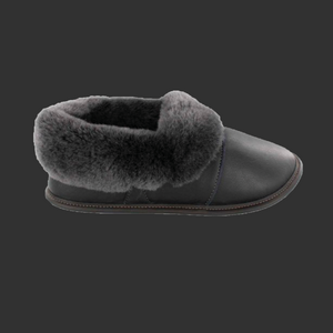 Ladies Leather Lazy Bone Slippers