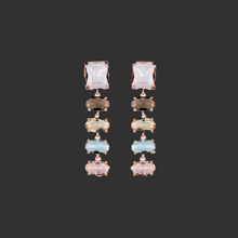 Load image into Gallery viewer, Pastel Oval Crystal Earrings