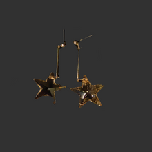 Load image into Gallery viewer, Golden Shadow Star Earrings