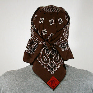 Chocolate Brown Paisley Skulldana®