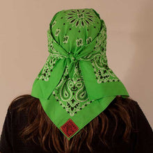 Load image into Gallery viewer, Lime Green Paisley Skulldana®