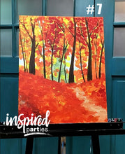 Load image into Gallery viewer, FALL Themed Finished Canvas Paintings for Sale
