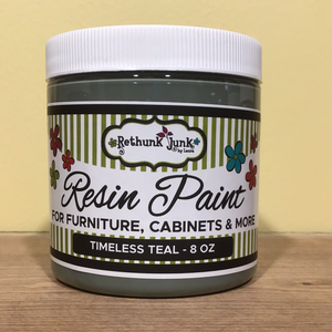 """Timeless Teal"" Rethunk Junk Furniture Paint"