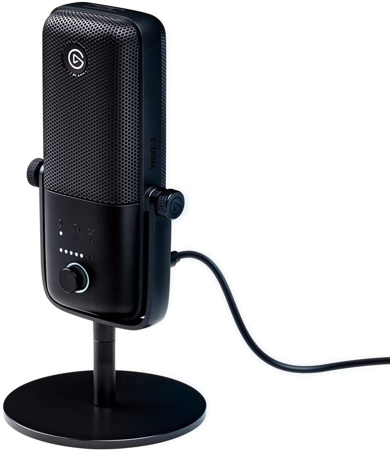 Elgato Wave 3 USB Condenser Microphone and Digital Mixer for Streaming, Recording, Podcasting.
