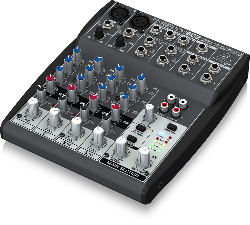 Behringer XENYX 802 8-Channel Audio Mixer