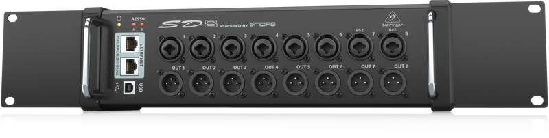 Behringer SD8 Stage Box with 8 Remote-Controllable Midas Preamps, 8 Outputs