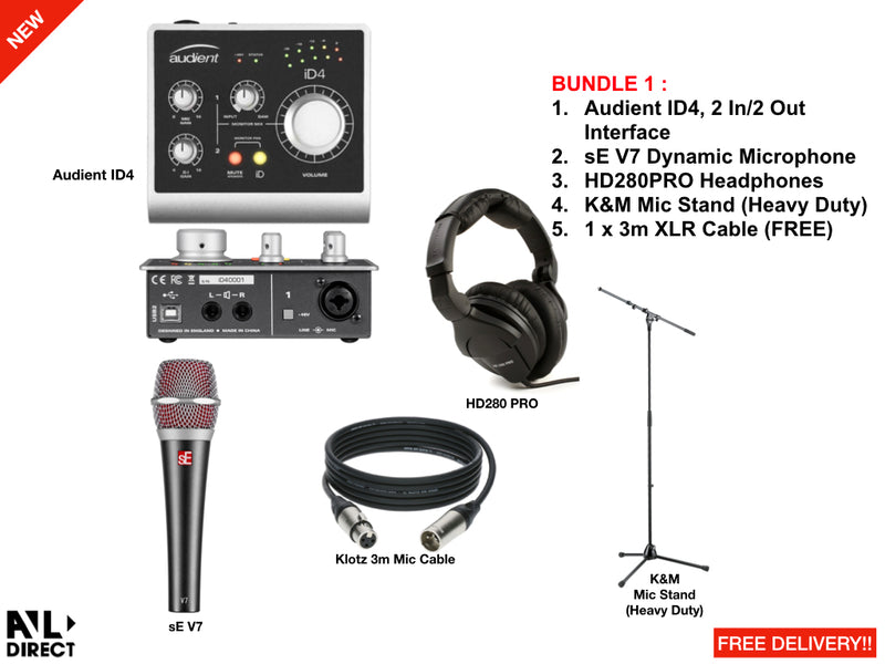 Recording/Podcast Bundles 1 (Audient)