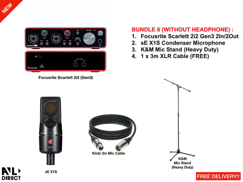Recording/Podcast Bundles 6 (Focusrite)