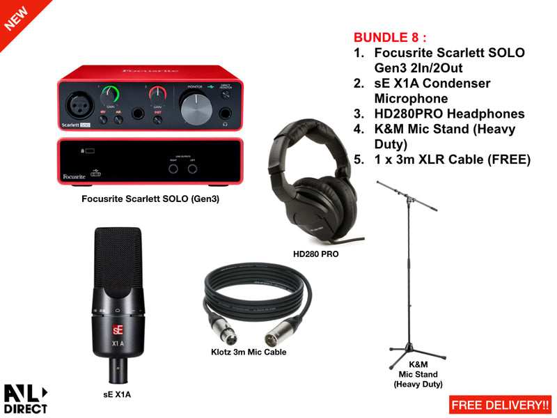 Recording/Podcast Bundles 8 (Focusrite)