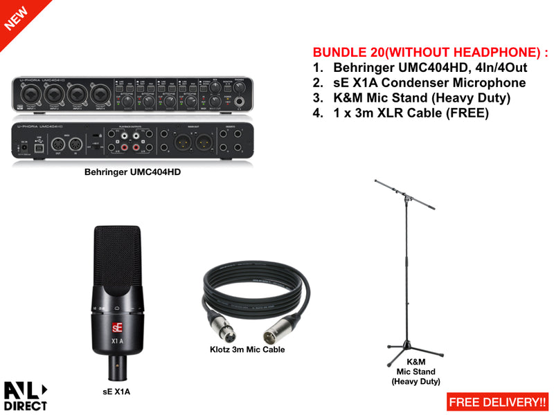 Recording/Podcast Bundles 20 (Behringer)