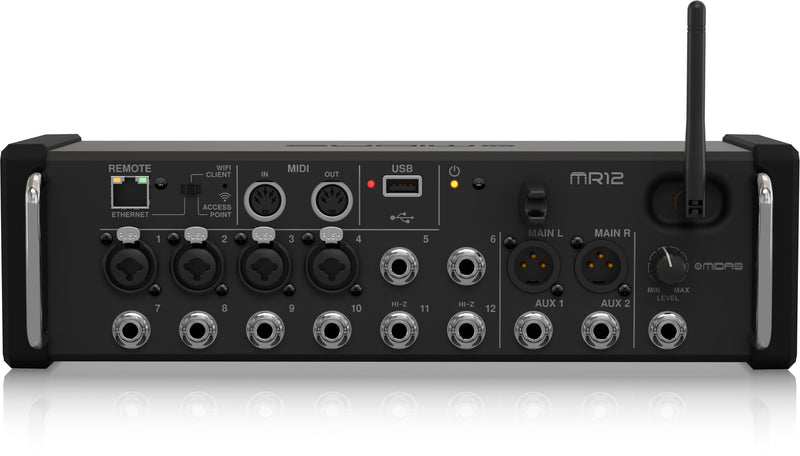 Midas MR12 Digital Mixer for iPad/Android Tablets