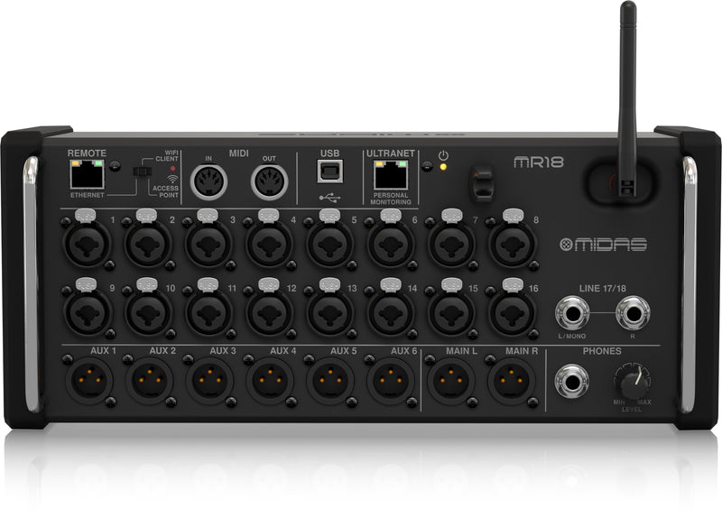 Midas MR18 Digital Mixer for iPad/Android Tablets