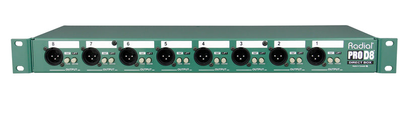 Radial Engineering ProD8 - 8 Ch Rackmountable Passive DI Box