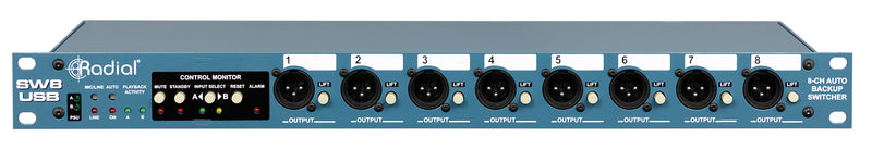 Radial Engineering SW8-USB Auto-Switcher and USB Playback Interface