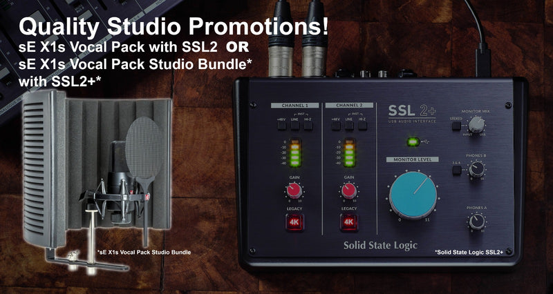 SOLID STATE LOGIC SSL 2/2+ WITH sE ELECTRONICS X1S BUNDLE