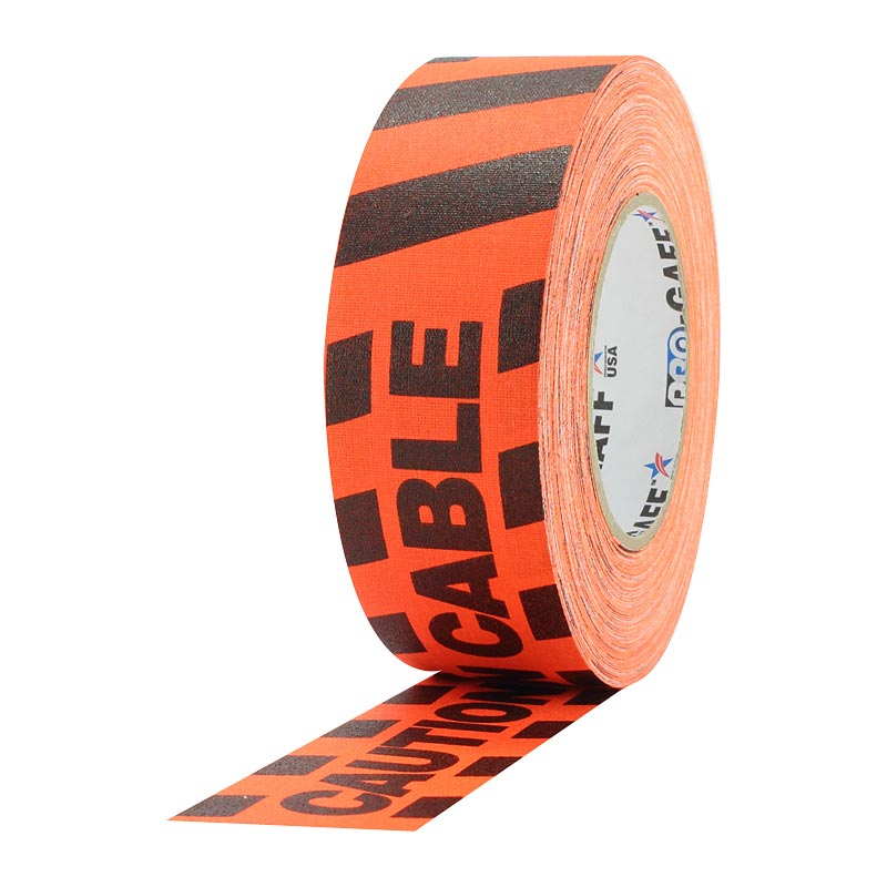 Progaff 2-inch Caution Cable Tape (Orange)