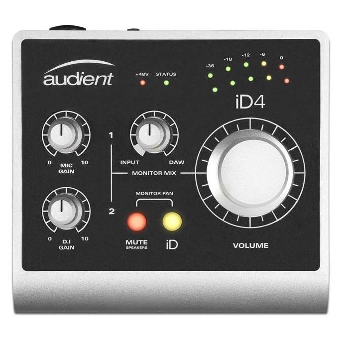 Audient ID4 USB 2.0 Audio Interface, 1Mic & 1 DI