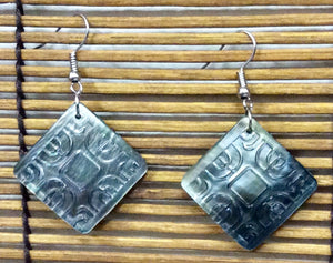 Etched Sea Shell Earrings