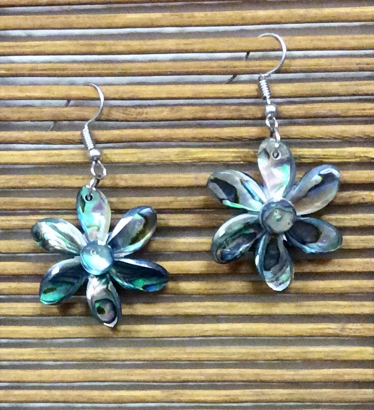 Abalone Flower Earrings