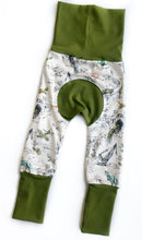 Load image into Gallery viewer, Grow with Me pants - machines + wildlife toile