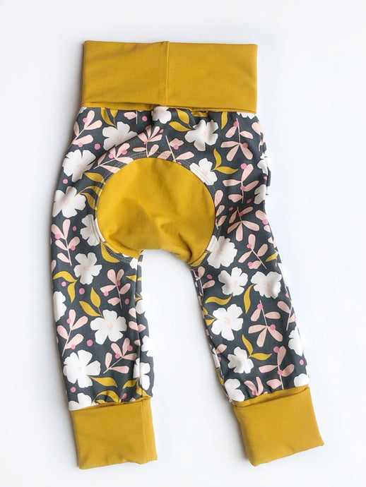 Grow with Me pants - holiday floral