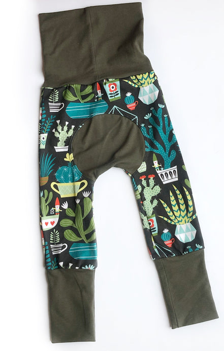 Grow with Me pants - Succulents + Gnomes