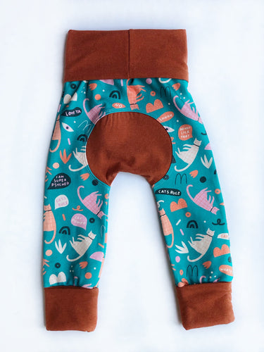 Grow with Me pants - cats!