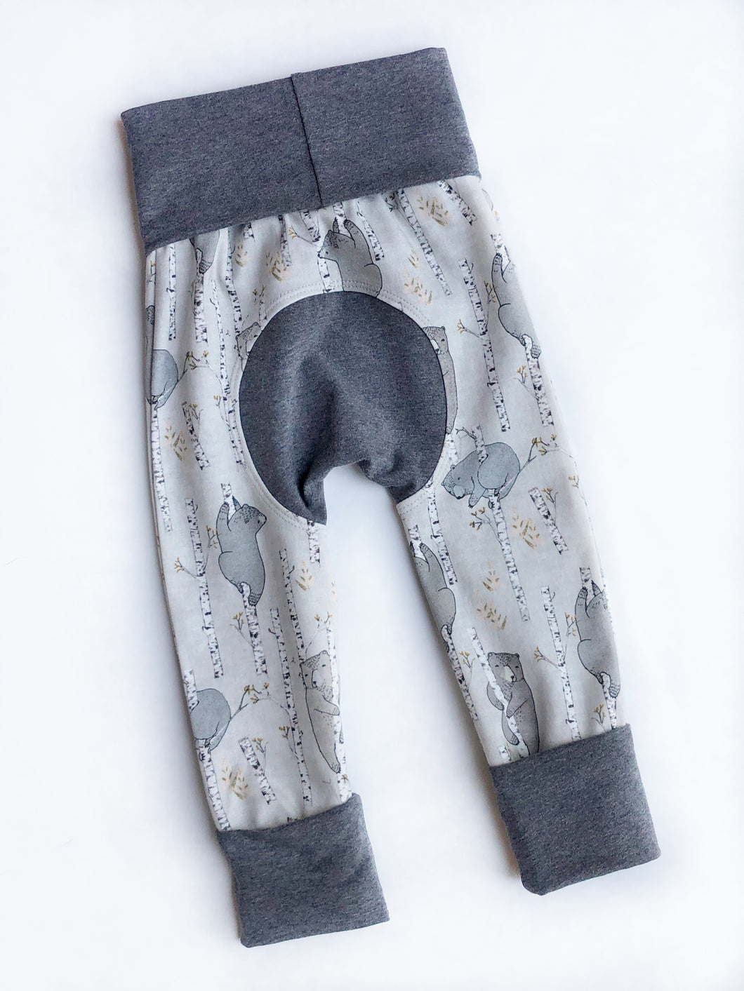 Grow with Me pants - birch bears