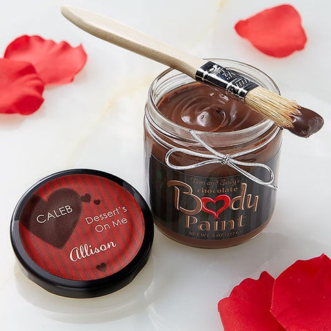valentines day chocolate body paint