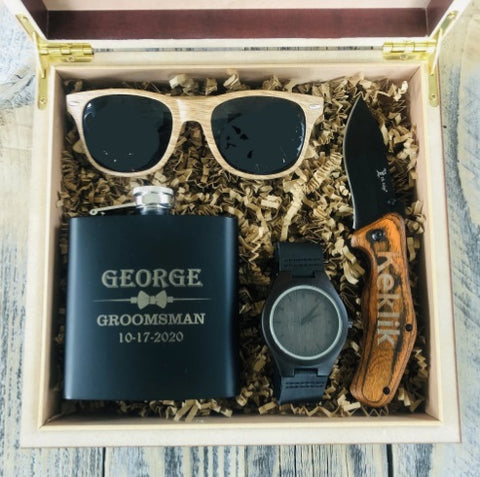 custom groomsmen gift box