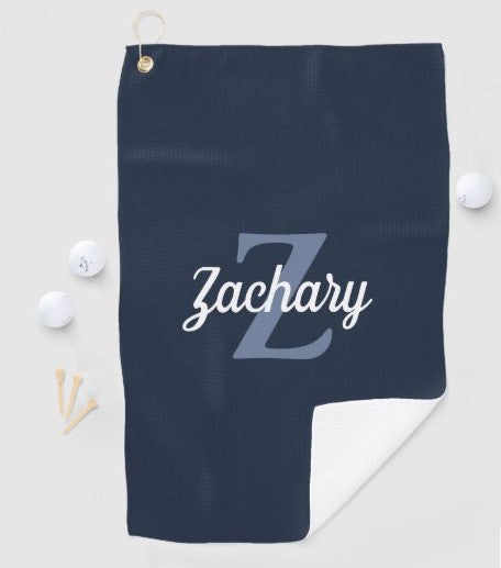 Initials Golf sports Embroidery Names Personalized Hand Towels Solid ColorS