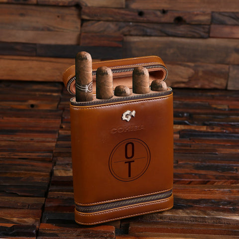 personalized travel cigar case