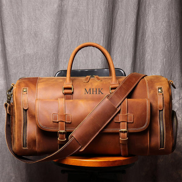 Gift For HimGift For HusbandLeather Duffel BagDistressed Leather Travel BagLeather LuggageLeather Overnight BagLeather Duffel
