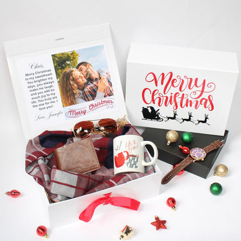 Personalized Christmas Gift Set for Him