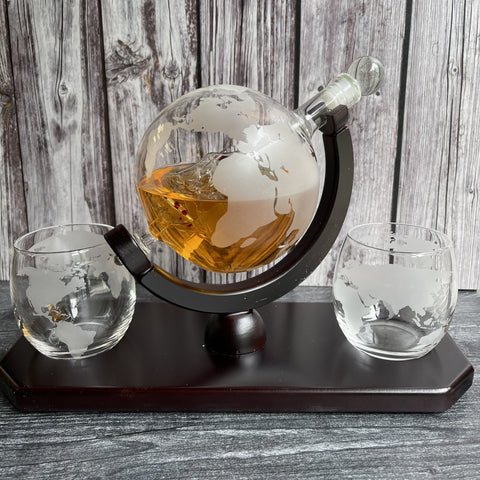 whiskey decanters set
