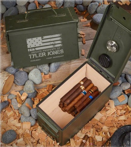Ammo Can Personalzied Humidor