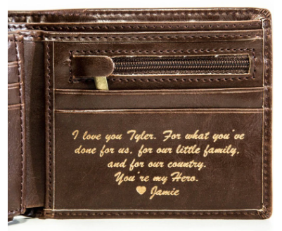 Leather Wallet Anniversary Gift