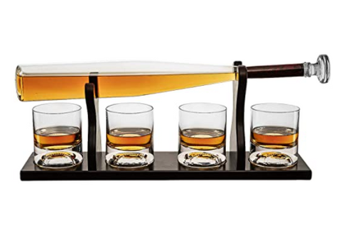 Baseball Whiskey Decanter Set