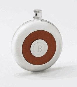 Engraved Circle Flask