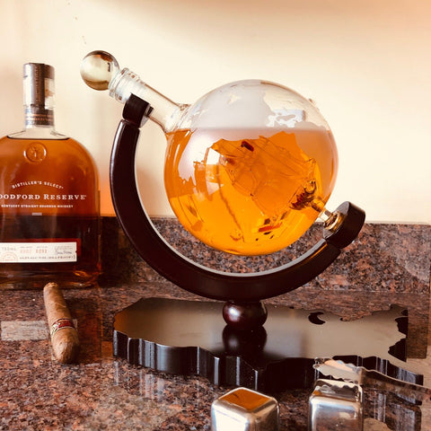 globe whiskey decanter gift