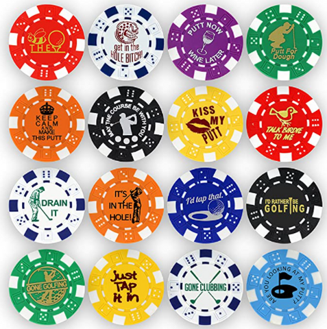 Funny Poker Chip Golf Ball Markers Golf Gift